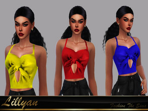 Sims 4 — Top Eleonor by LYLLYAN — Top in 5 colors. Base game.