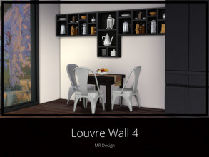 Sims 4 — Louvre Wall 4 by MR_Design — Louvre Wall 4 8 swatches