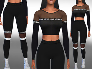Sims 4 — Transparent Detail Jogging Outfit by saliwa — Everday and Athletic Wear Categories
