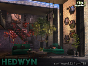 Sims 4 — Hedwyn Living Room by sim_man123 — A versatile, modern living room collection featuring jewel tone velvets and