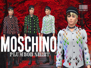 Sims 4 — Moschino Plumbob Shirt v1 by Dzastin0713 — Inspired by the Moschino collection. I'm working on more Moschino