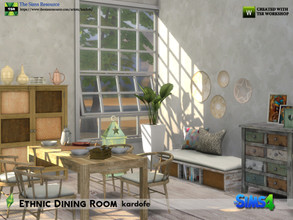 Sims 4 — kardofe_Ethnic Dining Room by kardofe — Natural ethnic style dining room with furniture made from recycled woods