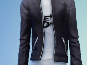 Sims 4 — My Chemical Romance Leather jacket recolor by yeetdaskeet — I made this recolor of the base game leather jacket