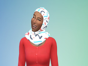 Sims 4 — Eden Hijab by yesimaweirdo — This has the same swatches as my other eden items!