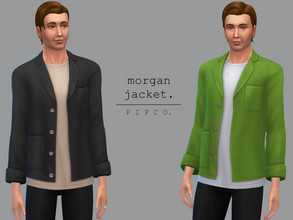 Sims 4 — pipco - morgan jacket. by Pipco — a comfy, casual jacket.