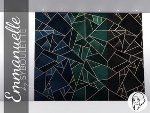 Sims 4 — Emmanuelle - Geometric gold wallpaper by Syboubou — This beautiful, stylish wallpaper is absolutely perfect if