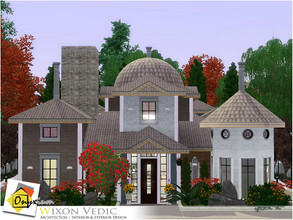 Sims 3 — Wixon Vedic by Onyxium — On the first floor: Living Room | Dining Room | Kitchen | Bathroom | Adult Bedroom On