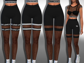 Sims 4 — Female Athletic Fishnet Leggings Mix by saliwa — Female Athletic Fishnet Leggings Mix For Athletic Wear Only