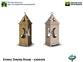 Sims 3 — kardofe_Ethnic Dining Room_Floor lamp by kardofe — Large size lamp, it is a floor lamp