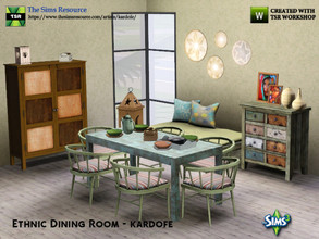 Sims 3 — kardofe_Ethnic Dining Room_ by kardofe — Natural ethnic style dining room with furniture made from recycled