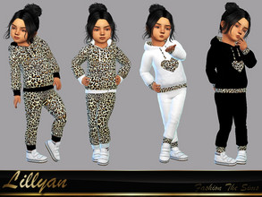 Sims 4 — Set Hoodie for Girls Lara by LYLLYAN — Set Hoodie for Girls ,toddlers in 4 styles. Base game.