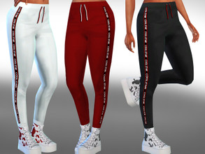 Sims 4 — Female Cool Star Jogging Pants by saliwa — Female Cool Star Jogging Pants