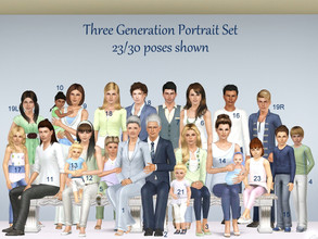 Sims 3 — Three Generation Portrait 30 Poses by jessesue2 — Formal/Traditional Family Portraits - 30 poses I have provided