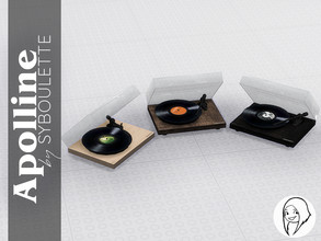 Sims 4 — Apolline - Record player by Syboubou — This a modern yet vintage turntable to listen to vinyls. It is made from