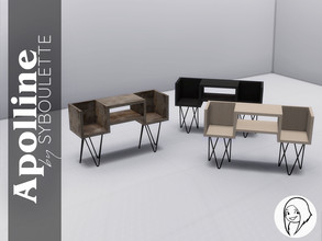 Sims 4 — Apolline - Vinyl storage by Syboubou — This piece of furniture comes in three different wood and combines