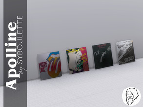 Sims 4 — Apolline - Leaning Vinyl by Syboubou — This is a disc cover that you can lean on a wall or against another pile