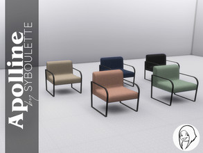 Sims 4 — Apolline Armchair by Syboubou — The perfect armchair to listen to music while enjoying a soft seat made from