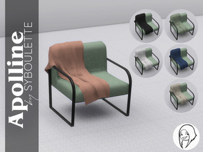 Sims 4 — Apolline - Blanket by Syboubou — This wool knitted blanket fits the Apolline Armchair. It exists in six