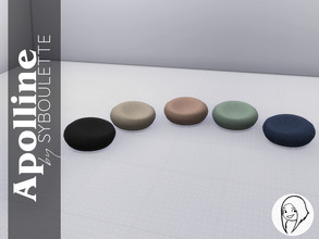 Sims 4 — Apolline - Pouffe by Syboubou — This seat is best for those who prefer to be closer to the ground. Wool knitted