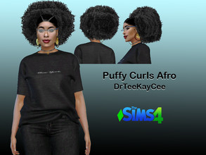 Sims 4 — Puffy Curls Afro by drteekaycee — This hairstyle is a part of a set. Looking natural is a lot of work. Getting