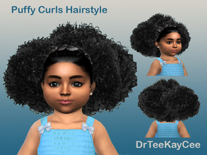 Sims 4 — Puffy Curls Afro - Toddler by drteekaycee — This adorable natural look for your toddler shows just how cute and