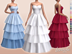 Sims 4 — Lucinda Dress by Sifix2 — - New mesh - 15 swatches - Base game compatible - HQ mod compatible - Teen - Young