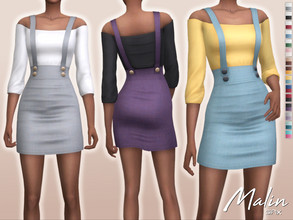 Sims 4 — Malin Outfit by Sifix2 — - New mesh - 15 swatches - Base game compatible - HQ mod compatible - Teen - Young