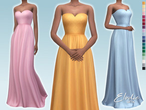 Sims 4 — Elodie Dress by Sifix2 — - New mesh - 20 swatches - Base game compatible - HQ mod compatible - Teen - Young
