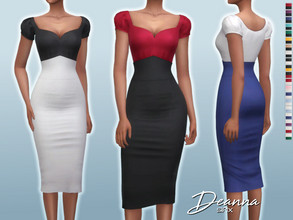 Sims 4 — Deanna Dress by Sifix2 — - New mesh - 20 swatches - Base game compatible - HQ mod compatible - Teen - Young