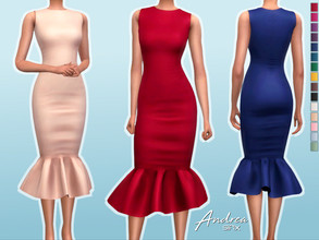 Sims 4 — Andrea Dress by Sifix2 — - New mesh - 15 swatches - Base game compatible - HQ mod compatible - Teen - Young