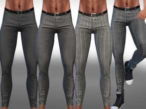 Sims 4 — Skinny Fit Men Trousers by saliwa — Skinny Fit Men Trousers