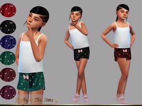 Sims 4 — Shorts Juliana by LYLLYAN — Children's shorts with detail of small hearts. 6 colors. You must have the Island