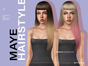 Sims 3 — LeahLillith Maye Hairstyle by Leah_Lillith — Maye Hairstyle All LODs Smooth bones assignement Custom CAS