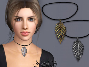 Sims 3 — NataliS TS3 Palm leaf pendant  by Natalis — Palm leaf pendant. FT-FA-FE