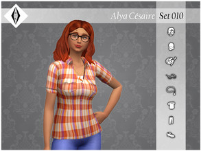 Sims 4 — Alya Cesaire - Set010 by AleNikSimmer — THIS IS THE FULL SET. -TOU-: DON'T reupload my items as yours. DON'T