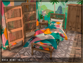 Sims 4 — Nota bene Bedroom by Winner9 — Summer colorful and cozy bedroom for kids and teenagers in bright tropical