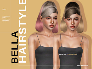 Sims 3 — LeahLillith Bella Hairstyle by Leah_Lillith — Bella Hairstyle All LODs Smooth bones Custom CAS thumbnail