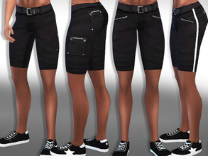 Sims 4 — Men Black Cargo Shorts by saliwa — Men Cargo Shorts