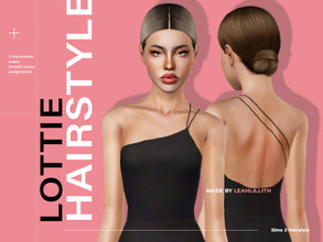Sims 3 — LeahLillith Lottie Hairstyle by Leah_Lillith — Lottie Hairstyle All LODs Smooth bones Custom CAS thumbnail