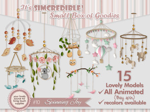 Sims 4 — Spinning Joy by SIMcredible! — It's SIMcredible! Small box of goodies 10 - Your lovely source for living touch