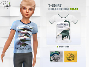 Sims 4 — T-shirt Collection RPL45 by RobertaPLobo — :: T-Shirt for Child (only Boy) :: 4 swatches :: Occult: ALL :: Base