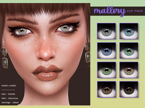 Sims 4 — [ Mallory ] - Eye Mask by Screaming_Mustard — A new glossy eye mask. For M/F, all ages. With custom thumbnails.