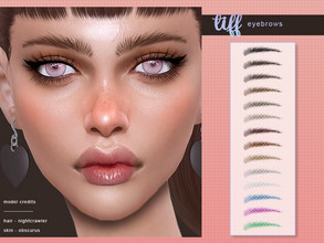 Sims 4 — [ Tiff ] - Eyebrows by Screaming_Mustard — New eyebrows for Sims. For females, toddler +. With custom thumb