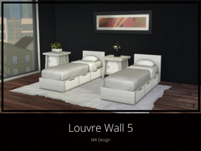 Sims 4 — Louvre Wall 5 by MR_Design — Louvre Wall 5 8 swatches