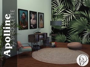 Sims 4 — Apolline Lounge Corner Set by Syboubou — The starting point of this set was the record player. I wanted to