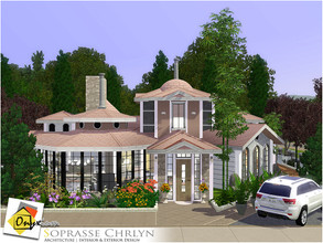 Sims 3 — Soprasse Chrlyn by Onyxium — On the first floor: Living Room | Dining Room | Kitchen | Bathroom | Study Room |