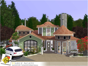 Sims 3 — Harle Agate by Onyxium — On the first floor: Living Room | Dining Room | Kitchen | Bathroom | Young Bedroom |