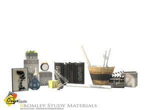 Sims 4 — Bromley Study Materials by Onyxium — Onyxium@TSR Design Workshop Study Room Collection | Belong To The 2020 Year