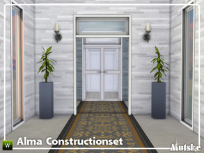 Sims 4 — Alma Constructionset Part 7 by Mutske — This is seventh part of the Alma Construction. With arches and doors.