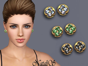 Sims 3 — NataliS TS3 Flower stud earrings by Natalis —  Flower stud earrings. FT-FA-FE